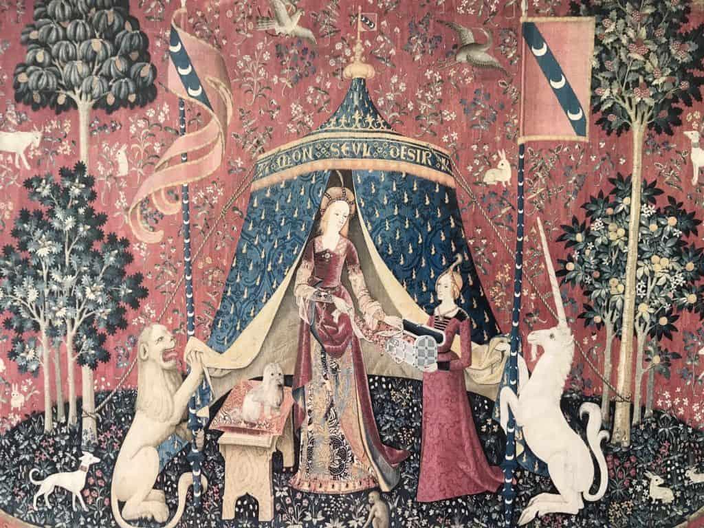 Tapisserie de la dame a la licorne datant du début du XVIe siècle