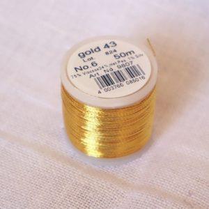 Bobines de fil à broder métallique or et argent