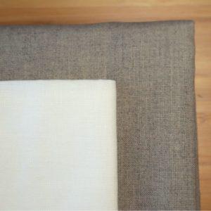 Toiles de lin sérré de couleurs blanche et ficelle