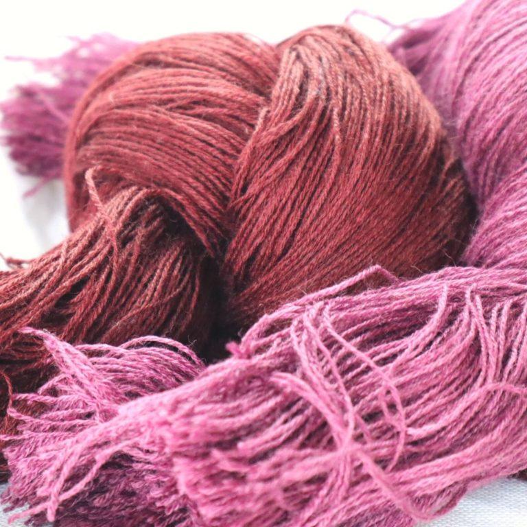 echeveaux de laine fine à broder