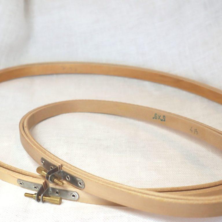 tambours ovals en bois