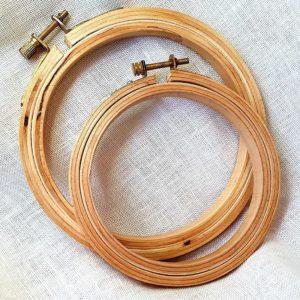 Tambours ronds en bois épais